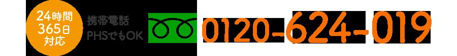 フリーダイヤル 0120-624-019