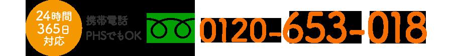 フリーダイヤル 0120-653-018