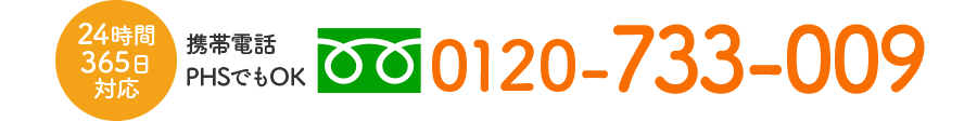 フリーダイヤル 0120-733-009